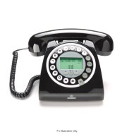 Optimum Black Retro Home Phone