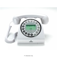 Optimum White Retro Home Phone