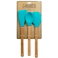 Silicone Utensil Set 3pc - Teal