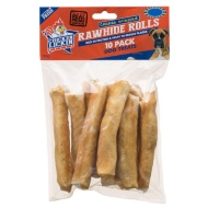 Chicken Lickin Wrapped Rawhide Rolls 10pk