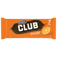 McVitie's Club Orange Biscuits 7pk