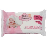 Baby Dream Baby Wipes 72pk