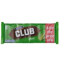 McVitie's Club Biscuits - Mint 8pk