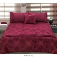 Damask Flocked  Piece Bed In A Bag King