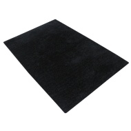 Divine Plain Supersoft Fashion Rug - Black