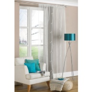 Allium Embroidered Voile Curtain
