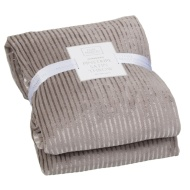 Pinstripe Satin Oversized Luxury Throw - Grey