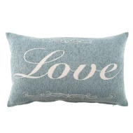 Maisie Embroidered Boudoir Cushion - Love