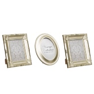 Set of 3 Metallic Vintage Frames - Gold
