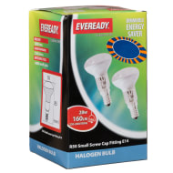 Eveready Halogen R50 28W Spot Light Bulbs 2pk