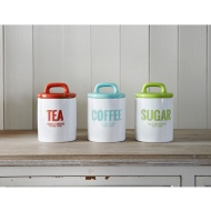 Retro Tea - Coffee - Sugar Set 3pc - Multicolour