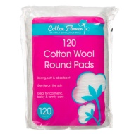 Cosmetic Cotton Wool Round Pads 120pk