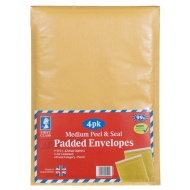 Medium Padded Envelopes 4pk