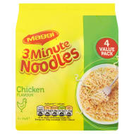 Maggi 3 Minute Noddles Chicken Flavour 4 x 59g