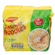 Maggi 3 Minute Noddles Chicken Flavour 5 x 59g