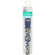 Medium Adjustable Dog Collar - Blue Bones