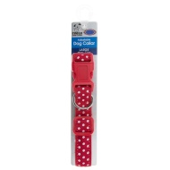 Dog Collar Large - Red - Spots