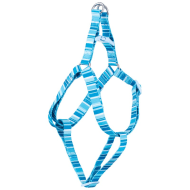 Pooch Couture Adjustable Dog Harness - Small - Blue Stripe