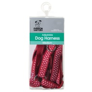Dog Harness Medium - Red - Spots