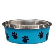 Non-Slip Stainless Steel Bowl - Blue