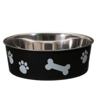 Non-Slip Stainless Steel Bowl - Black