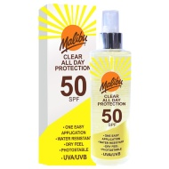 Malibu Clear All Day Protection Spray Factor 50 250ml