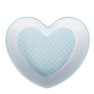 Heart Shaped Bowl - Blue Spots