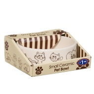 Ceramic Pet Bowl - Cat Print