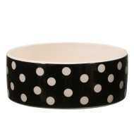 Ceramic Pet Bowl - Black Spots