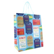 Everyday Gift Bags Large 2pk - Birthday Tickets