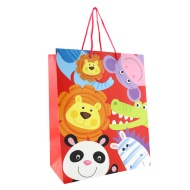 Kids Gift Bags Large 2pk - Animals