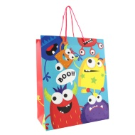 Kids Gift Bags Large 2pk - Monsters