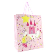 Kids Gift Bags Large 2pk - Fairy & Castle