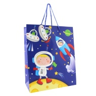 Kids Gift Bags Large 2pk - Spaceman