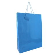 Holographic Gift Bags XL - Blue 2pk