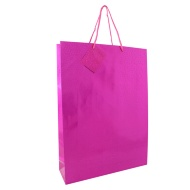 Holographic Gift Bags XL - Pink 2pk