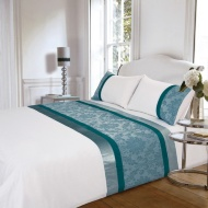 Jessica Jacquard Duvet Set Double - Teal