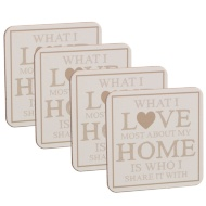 Coasters 4pk - Love Home