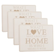 Placemats 4pk - Love Home