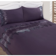 Zig Zag Sequin Duvet Set - Double