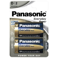 Panasonic D Type Alkaline Batteries 2pk