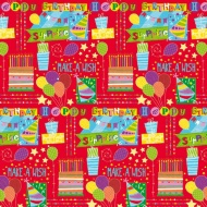 Kids Everyday Wrapping Paper - Birthday Jamboree - 3m