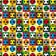 Kids Everyday Wrapping Paper - Retro Footballs - 3m