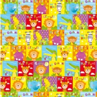Kids Everyday Wrapping Paper - Jungle Squares - 3m