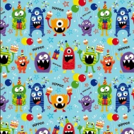 Kids Everyday Wrapping Paper - Woo Hoo Monsters - 3m