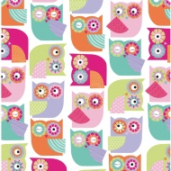 Kids Everyday Wrapping Paper - Owls - 3m