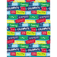 Kids Everyday Wrapping Paper - Celebrate - 3m