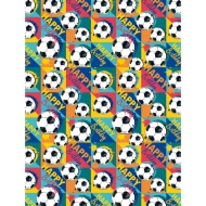 Kids Everyday Wrapping Paper - Football - 3m