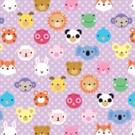 Kids Everyday Wrapping Paper - Animal Faces - 3m
