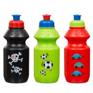 Sports Bottle with Colour Print 12oz 3pk - Skulls